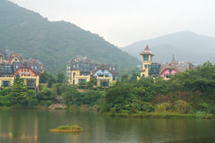 An amazing beautiful villa. In Shenzhen China stock photography