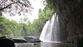 Amazing beautiful waterfalls in deep forest stock video