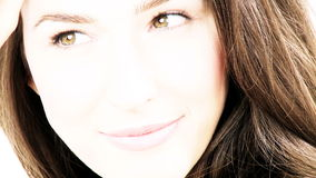 Amazing beautiful woman smiling posing stock video footage