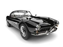 Amazing black vintage race car - closeup shot Royalty Free Stock Image