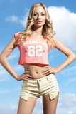 Amazing blonde summer girl Royalty Free Stock Photos