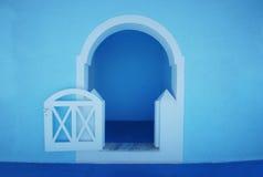 Amazing blue arch on Santorini island Royalty Free Stock Images