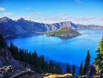 Amazing Blue Crater Lake, Oregon stock photography