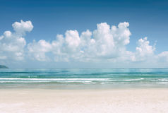 Amazing blue ocean and tropical white sand beach Royalty Free Stock Images