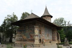 Voronet monastery in Bucovina Romania royalty free stock images