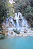 Amazing blue waterfalls near Luang Prabang, Laos stock image