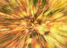 Amazing blurry movement background of autumn foliage stock images