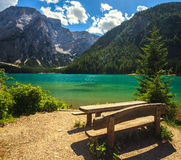 Amazing Braies Lake Royalty Free Stock Photo