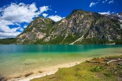 Amazing Braies Lake Stock Photography
