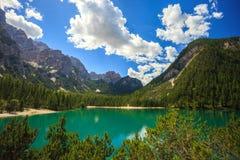 Amazing Braies Lake Stock Photos