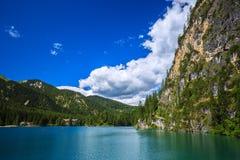 Amazing Braies Lake Royalty Free Stock Images