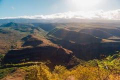 Amazing grand canyon on the island. Amazing and breath taking grand canyon on the island of Kauai, Hawaii Royalty Free Stock Image