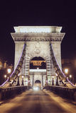 Amazing bridge arch in the night Budapest Stock Image