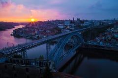 Amazing  bridge in Porto Portugal Royalty Free Stock Image
