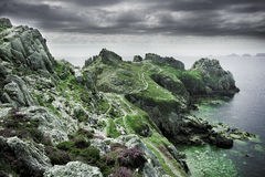 Amazing brittany. Amazing landscape in brittany crozon Royalty Free Stock Photo