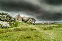 Amazing brittany meneham. Amazing house in brittany landscape Stock Images