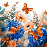 Amazing butterfly fairy of flowers Stock Image