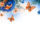 Amazing butterfly fairy of flowers Stock Images