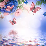 Amazing butterfly fairy of flowers Stock Photo