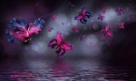 Amazing butterfly fairy of flowers Royalty Free Stock Image