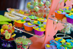 Amazing candy bar at wedding Royalty Free Stock Photos