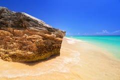 Beach at Caribbean sea in Mexico Stock Photo