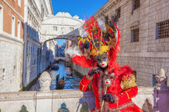 Amazing carnival mask in Venice, Italy Royalty Free Stock Photo