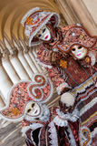 Amazing carnival masks in Venice, Italy Stock Images