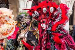 Amazing carnival masks in Venice, Italy Stock Photography
