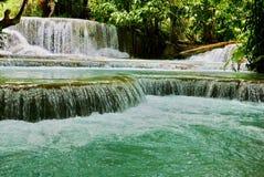 Kuang Si water falls. royalty free stock photography