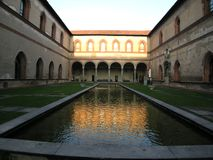 Amazing Castello Sforzesco Milan Italy stock photo