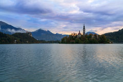 Amazing castle Bled lake. In Slovenia, Europe Royalty Free Stock Images