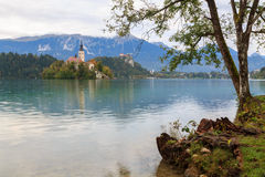 Amazing castle Bled lake. In Slovenia, Europe Royalty Free Stock Photo