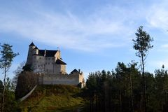 Castle Bobolice. Amazing castle Bobolice in Poland Stock Images