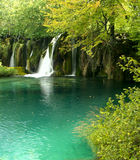 Amazing cataract. Croatia's National park finding cataract Plitvice royalty free stock images