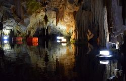 Cave of Diros, Greece royalty free stock image