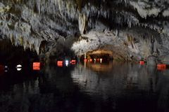 Cave of Diros, Greece. Amazing cave of Diros, Peloponesse, Greece stock photography