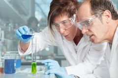 Amazing Chemist Team Royalty Free Stock Image