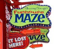 Amazing Chicago's Funhouse Maze on Navy Pier Royalty Free Stock Photography