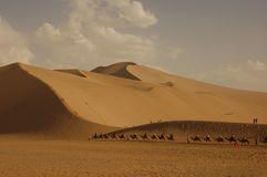 Amazing China. Landscape in the Gobi desert in Dunhuang Stock Photos