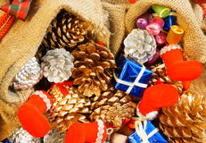 Amazing Christmas background, colorful Xmas material Stock Photos