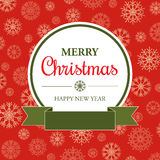 Amazing Christmas card in retro style Royalty Free Stock Photos