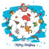 Amazing Christmas illustration. Calligraphy Stock Photo