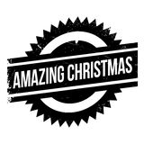 Amazing Christmas rubber stamp. Grunge design with dust scratches. Effects can be easily removed for a clean, crisp look. Color is easily changed Royalty Free Stock Image