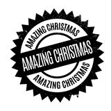 Amazing Christmas rubber stamp. Grunge design with dust scratches. Effects can be easily removed for a clean, crisp look. Color is easily changed Royalty Free Stock Photos