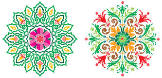 2 Amazing Circle Arabic Ornament in Vector Stock Photos