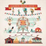 Amazing Circus Show elements Royalty Free Stock Photos