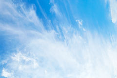 Amazing cirrus clouds Stock Photo