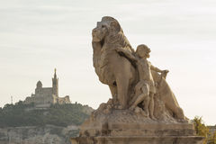 Amazing city Marseille the view from la Gare, France Royalty Free Stock Photography