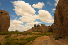 The amazing city of rocks state park in new mexico Stock Image